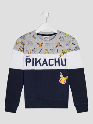Sweat manches longues Pokemon multicolore garcon