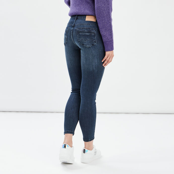 Jeans skinny Creeks femme denim brut