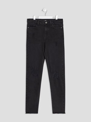 Jeans slim Liberto denim snow noir fille