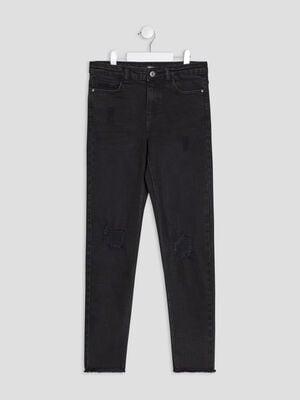 Jeans slim Liberto denim snow noir fille