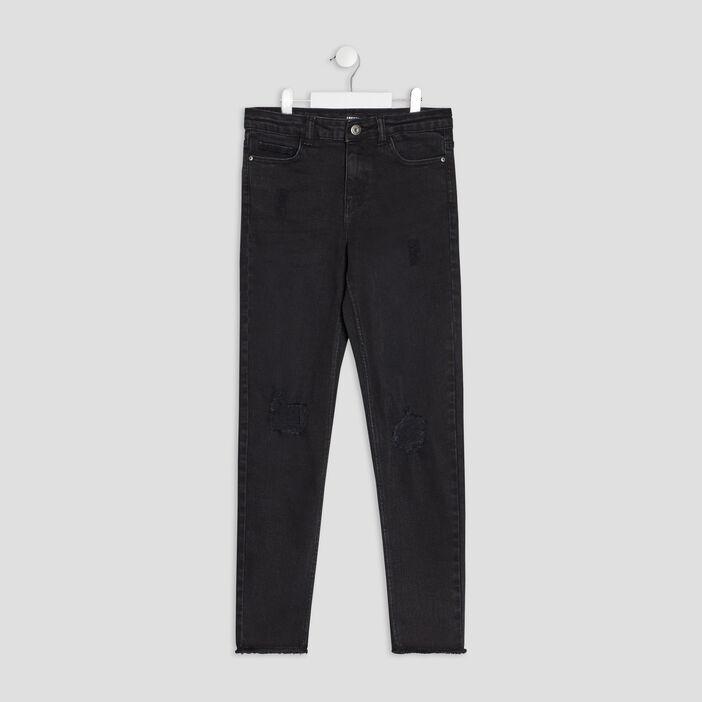 Jeans slim Liberto fille denim snow noir