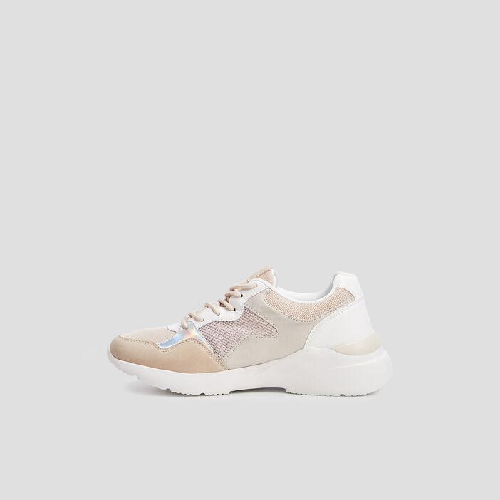 Baskets runnings Liberto femme beige