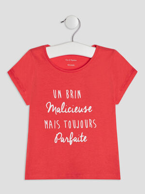 T shirt manches courtes rouge bebef