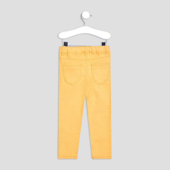 Pantalon jegging bébé fille jaune moutarde