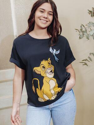 T shirt Le Roi lion gris fonce femme