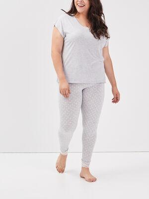 Ensemble pyjama grande taille gris clair femmegt