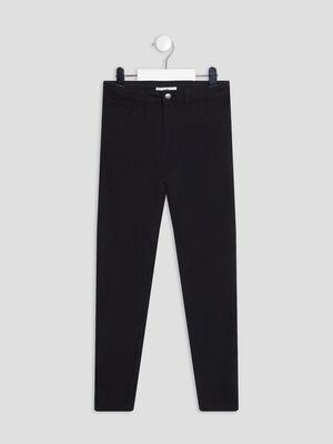 Pantalon slim taille ajustable noir fille