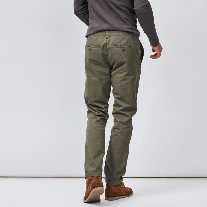 Pantalon droit homme vert kaki