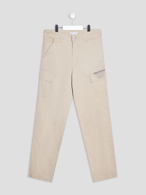 Pantalon cargo beige garcon