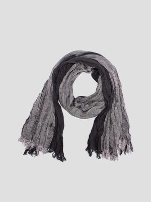 Foulard effet froisse noir mixte