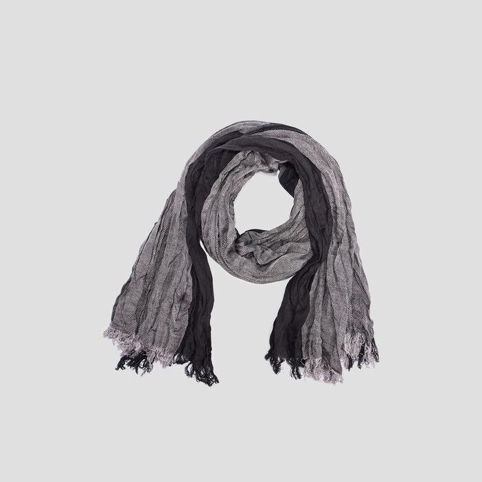 Foulard effet froissé mixte noir