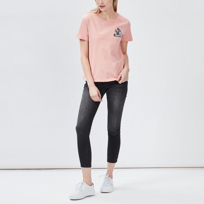 Jeans skinny 7/8ème femme noir