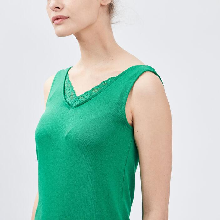 Débardeur bretelles larges femme vert