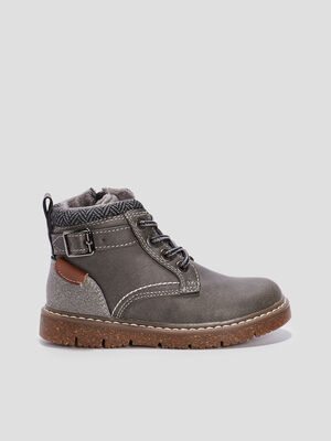 Bottines crantees Creeks gris garcon