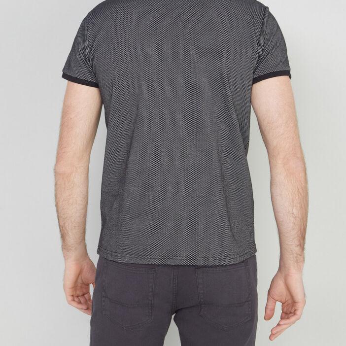 Polo manches courtes coton majoritaire homme noir