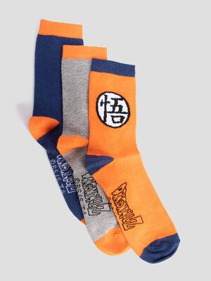 Lot 3 chaussettes Dragon Ball multicolore garcon