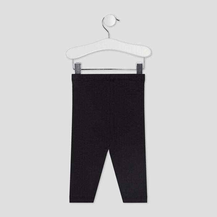 Pantalon legging bébé fille noir
