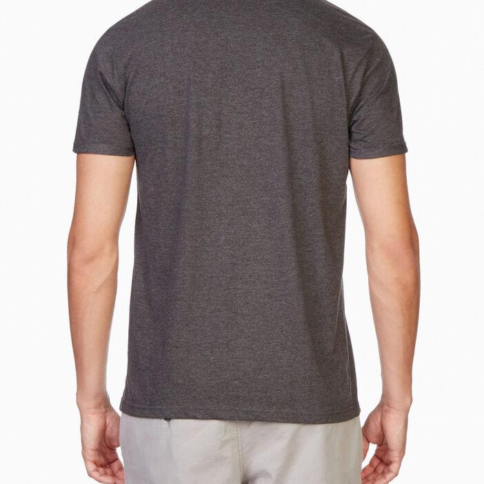 T-shirt manches courtes col rond homme gris foncé