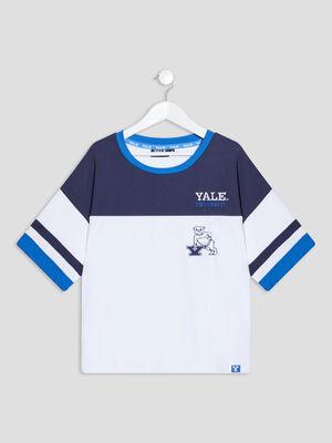 T shirt manches courtes Yale multicolore fille