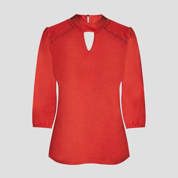 T-shirt manches 3/4 femme orange foncé