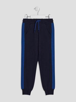 Pantalon jogging bleu marine garcon