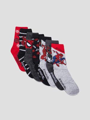 Chaussettes Spider Man multicolore mixte