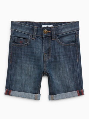 Short en jean avec revers denim stone garcon