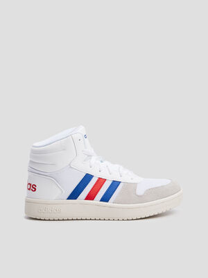 Baskets montantes Adidas blanc garcon