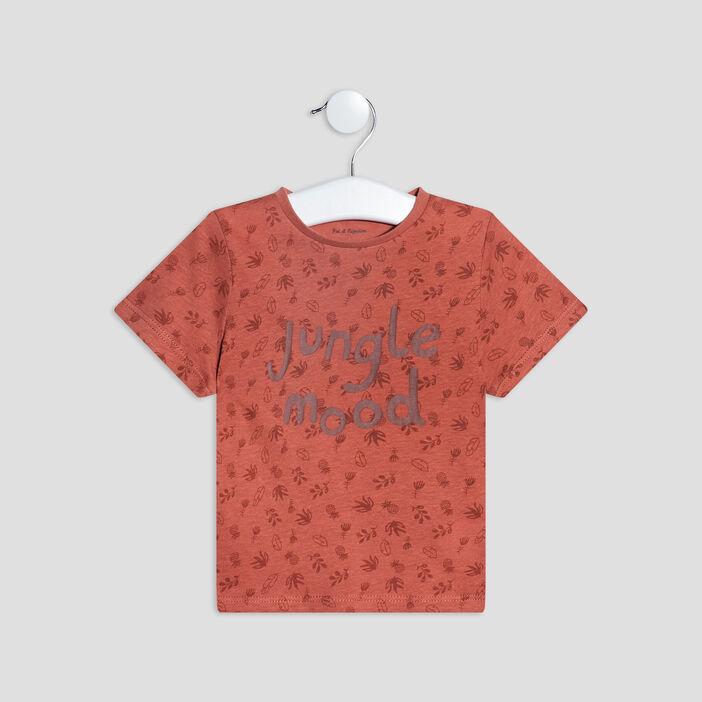 T-shirt manches courtes bébé garçon orange foncé
