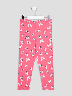 Leggings rose fille