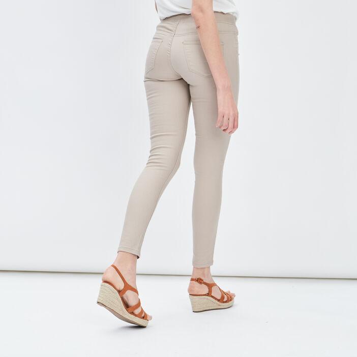 Pantalon jegging femme beige