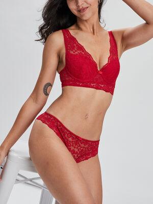 Soutien gorge foulard rouge femme