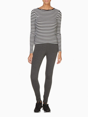Legging taille standard gris fonce femme