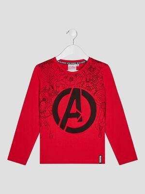 T shirt Avengers rouge garcon