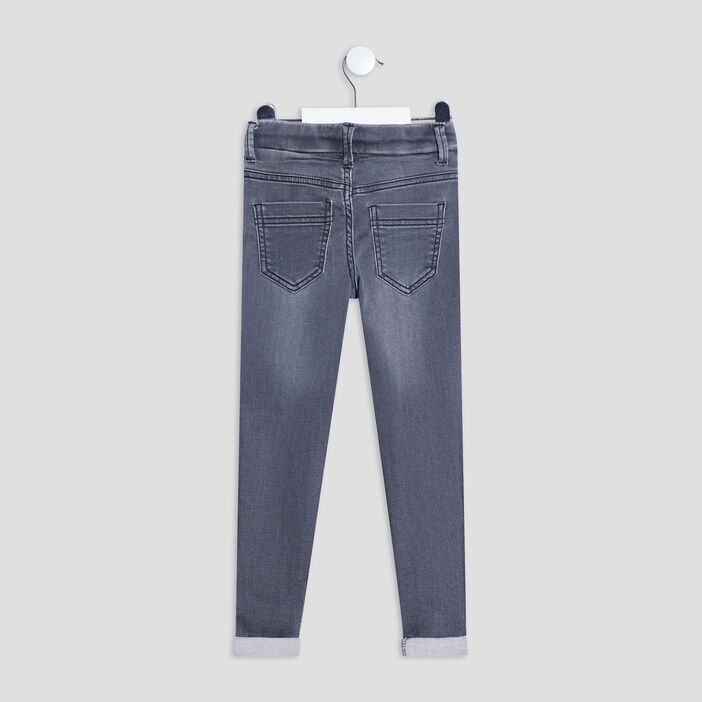 Jeans slim taille à coulisse garçon gris
