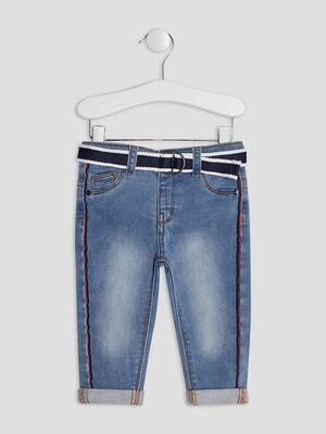 Jeans slim ceinture denim double stone bebeg