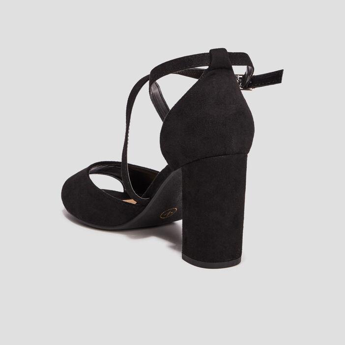 Sandales à bout ouvert femme noir