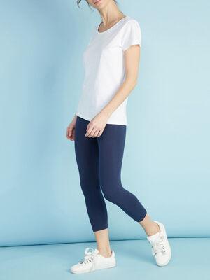 Legging 78e uni bleu marine femme