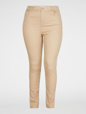 Pantalon slim 5 poches beige femmegt