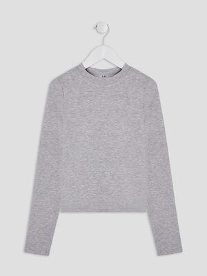 T shirt manches longues gris fille
