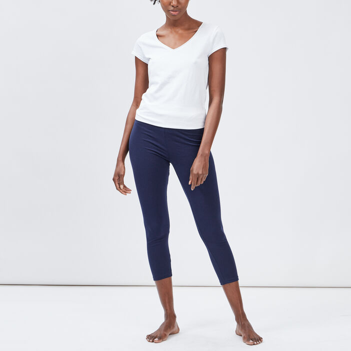 Legging 7/8ème femme bleu marine
