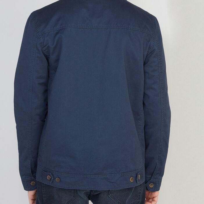 Blouson en coton col montant homme gris