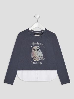 T shirt Harry Potter bleu marine fille