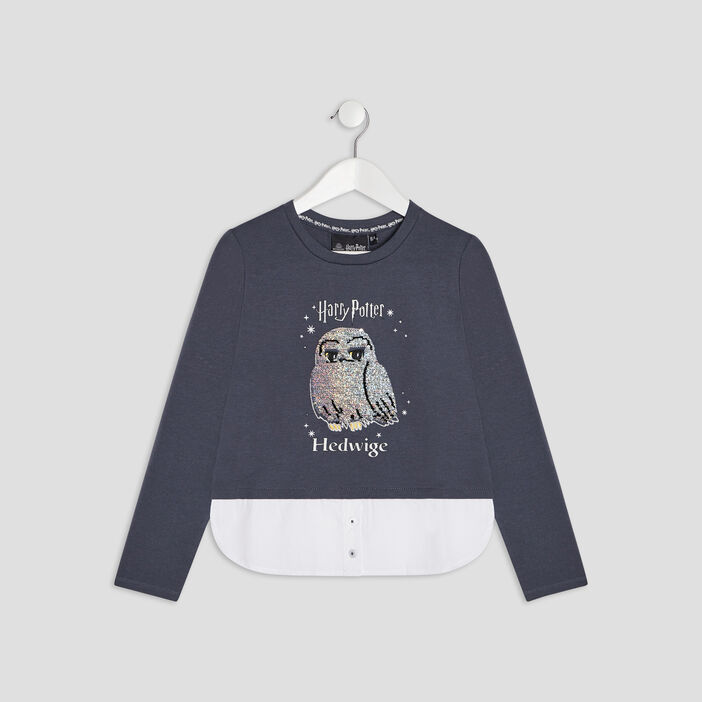 T-shirt Harry Potter fille bleu marine