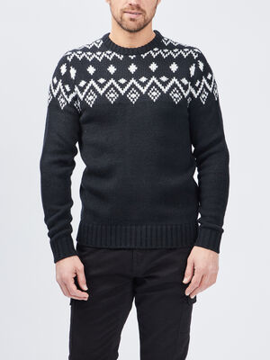 Pull a col rond Creeks noir homme
