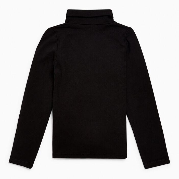 T-shirt col roulé coton majoritaire fille noir
