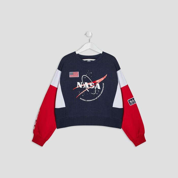 Sweat manches longues NASA fille multicolore