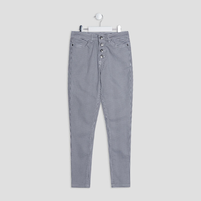 Pantalon droit boutonné fille blanc