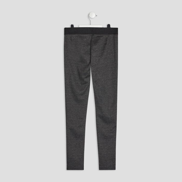 Pantalon legging fille gris foncé