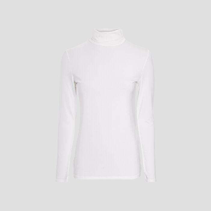T-shirt manches longues femme ecru
